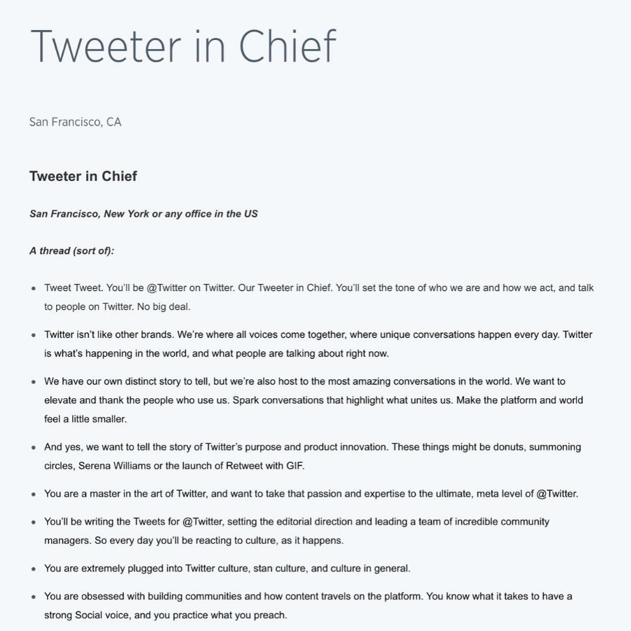 """Twitter đưa ra chiến dịch : """"Tweeter in Chief"""""""